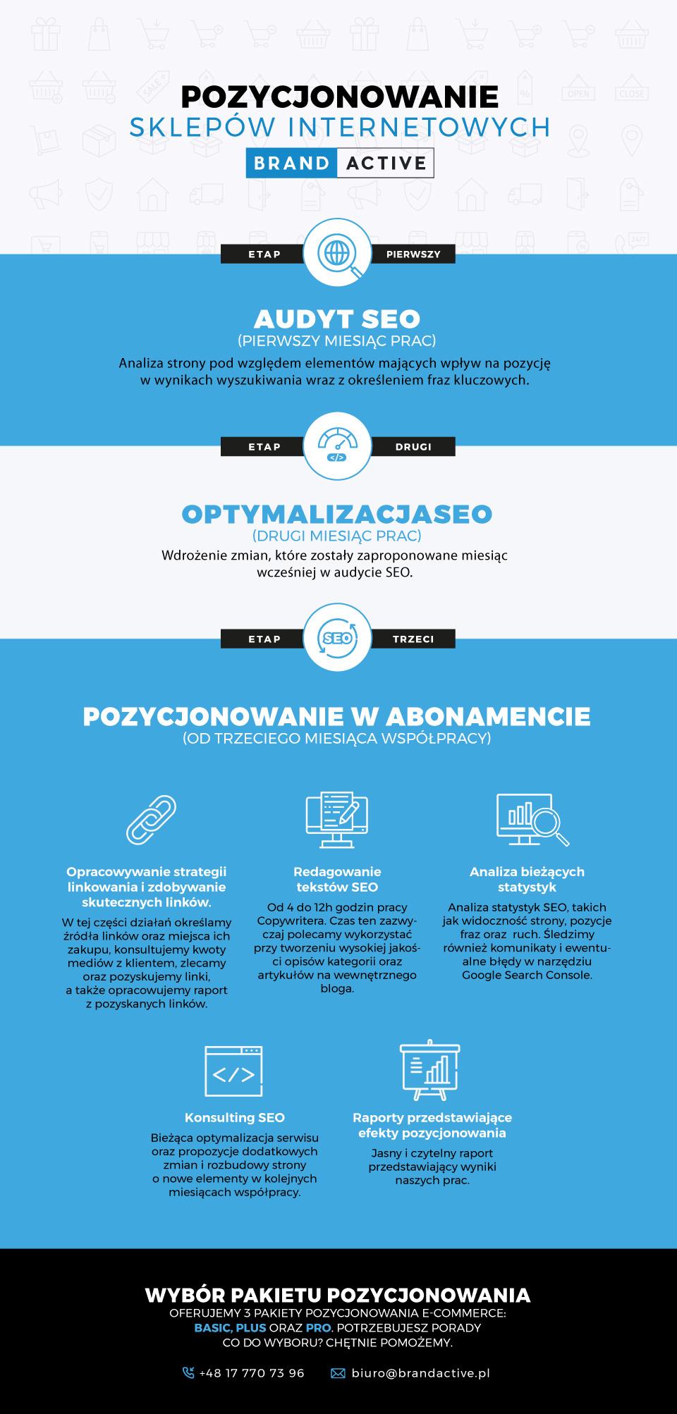 infografika pozycjonowanie e-commerce